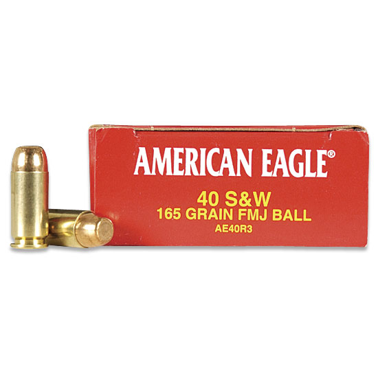 Federal American Eagle 40 S&W, 165gr FMJ, 50 Rounds - Ammo